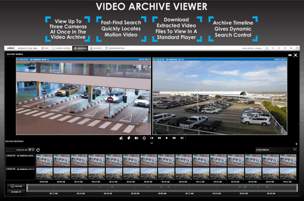 Perspective VMS™ VIdeo Archive Viewer Features